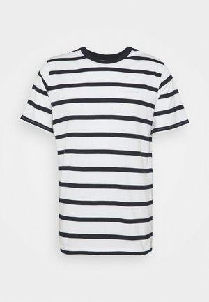 ASPEN STRIPED TEE - T-shirt print - blue