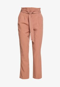 New Look - MILLER PAPERBAG TROUSER - Chinosy - mid pink - 4