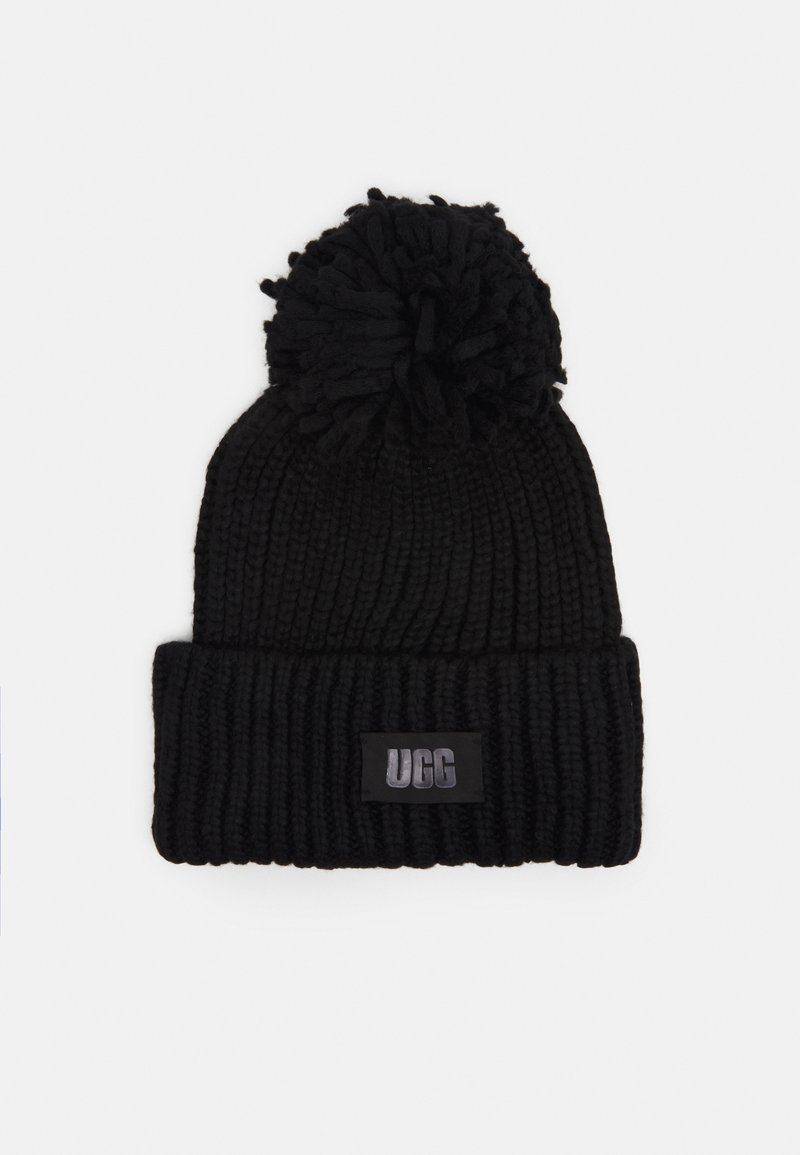 UGG - CHUNKY BEANIE POM - Bonnet - black