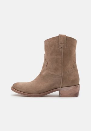 Cowboy/biker ankle boot - taupe/summer