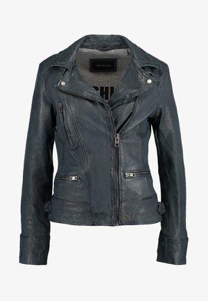 VIDEO - Leather jacket - petrol