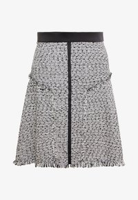 KARL LAGERFELD - BOUCLE  - A-line skirt - white/black - 4