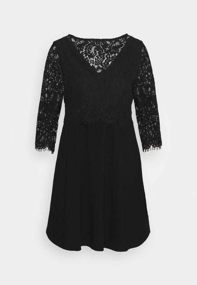 VIFRANA 3/4  DRESS - Cocktailkjoler / festkjoler - black