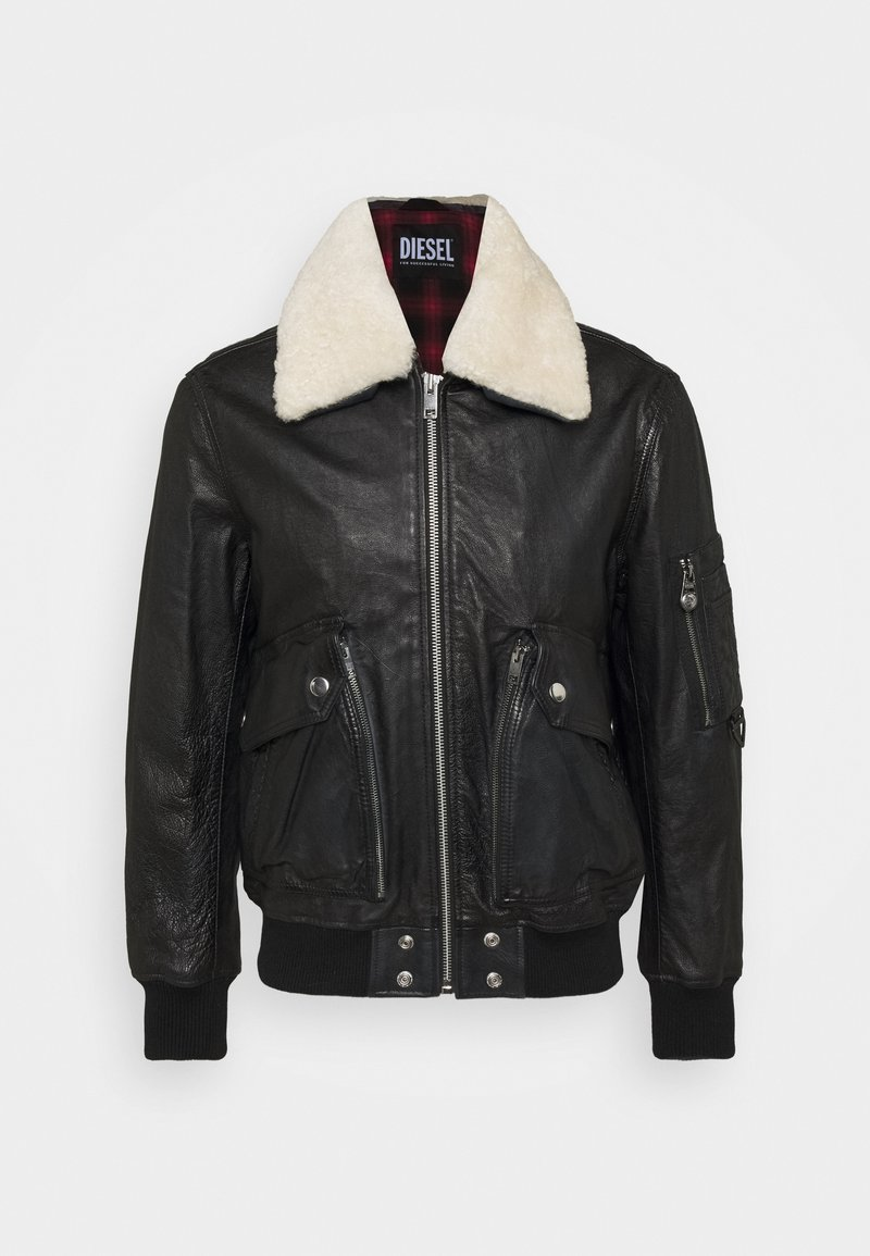 Diesel - L-STEPHEN JACKET - Leather jacket - black