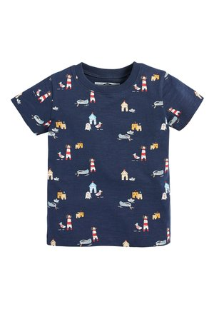 NAVY SHORT SLEEVE SEASIDE T-SHIRT (3MTHS-7YRS) - Print T-shirt - blue