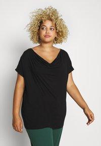 Anna Field Curvy - Print T-shirt - black - 0