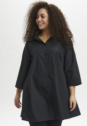 3/4 SLEEVE - Button-down blouse - black deep