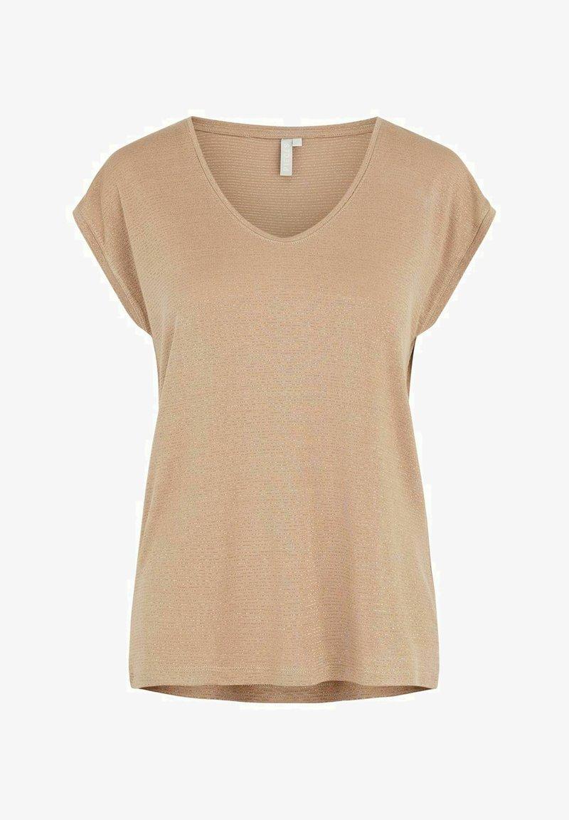Pieces - T-shirt basic - natural