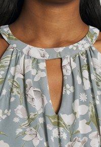 Vila - VIMILINA FLOWER DRESS - Cocktail dress / Party dress - ashley blue/white - 4