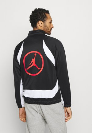 Training jacket - black/white/chile red