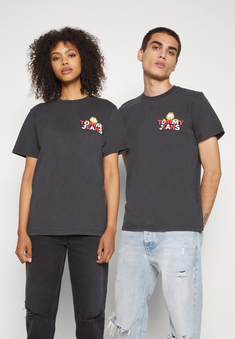 Tommy Jeans - ABO TJU X GARFIELD TEE UNISEX - T-Shirt print - blackout
