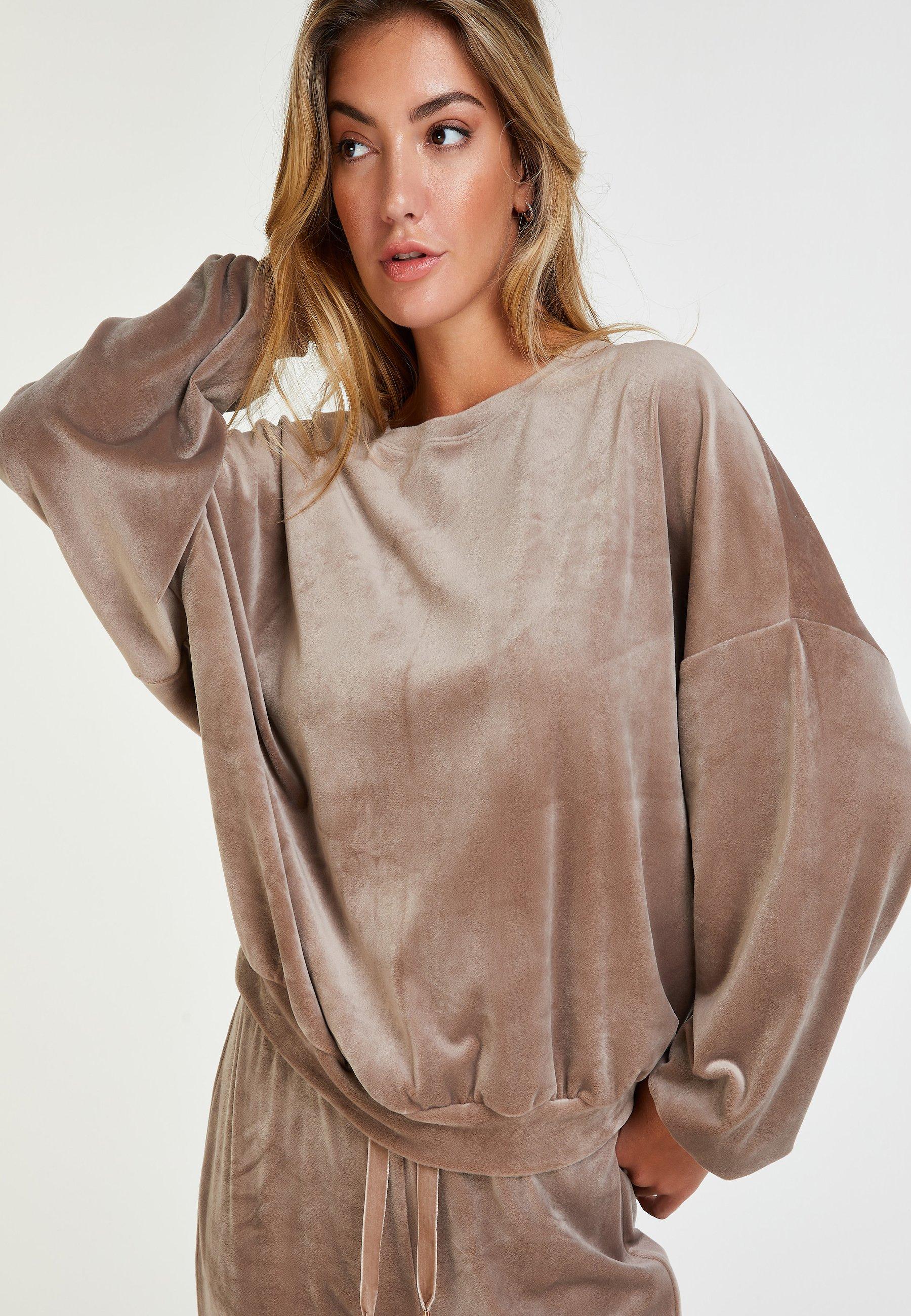 Damen VELOUR LUREX - Nachtwäsche Shirt
