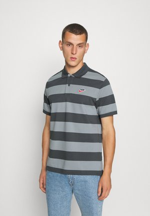 STRIPE - Polo - iron grey/particle grey