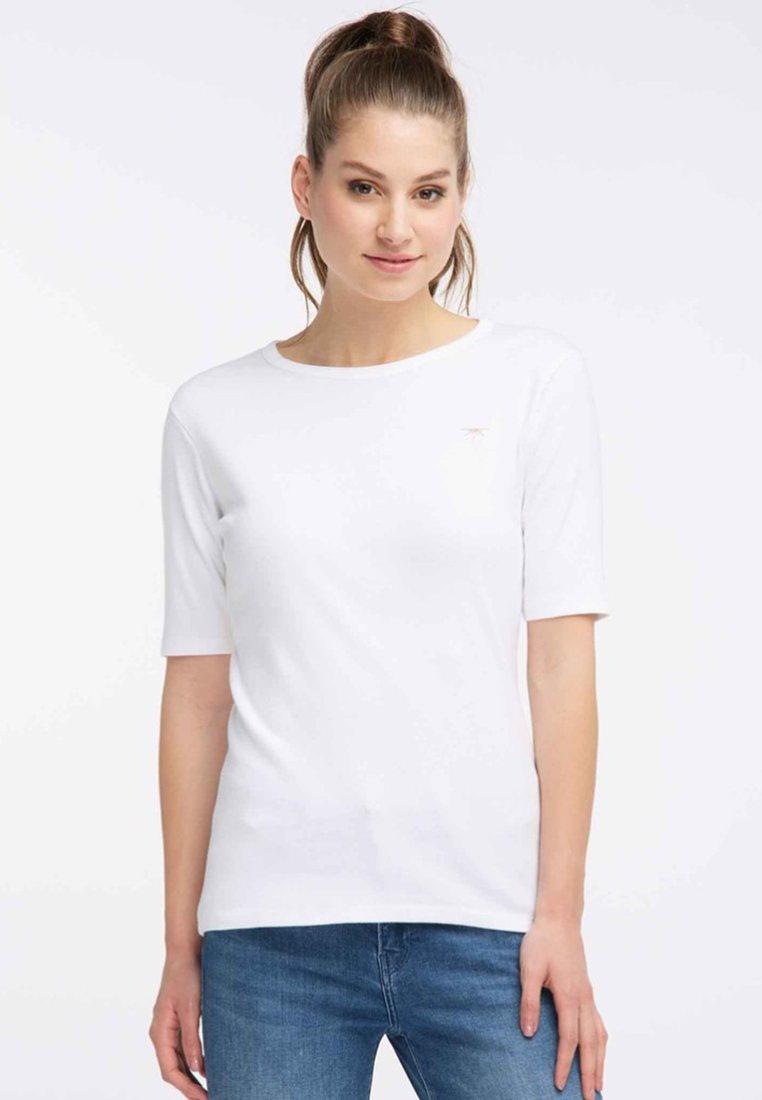 Petrol Industries - Print T-shirt - bright white