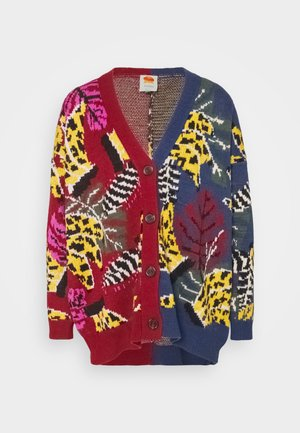 MIXED EMBROIDERED BANANA CARDIGAN - Cardigan - multi