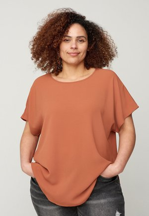 Blouse - copper brown