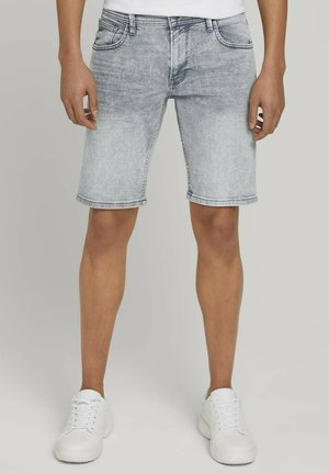 Denim shorts - light stone blue grey denim