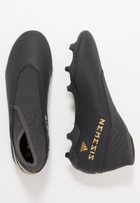 adidas Performance - NEMEZIZ 19.3 LL FG - Moulded stud football boots - core black/gold metallic/utility black - 1