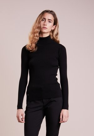 TURTLE NECK - Jumper - polo black