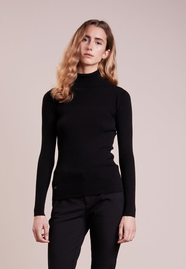 TURTLE NECK - Pullover - polo black