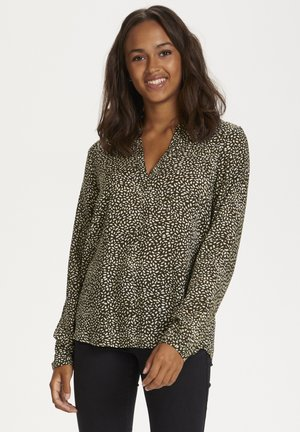 KAAUSELINE - Blouse - grape leaf / chalk leo dot