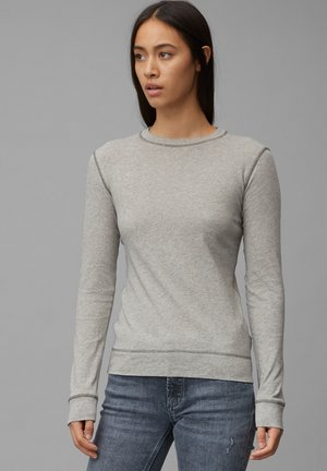 Long sleeved top - cloudy melange