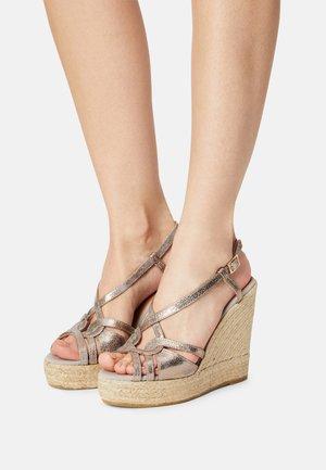 SOFIA - Platform sandals - silber/grau
