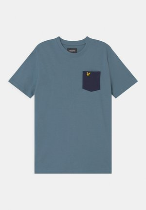 CONTRAST POCKET  - Print T-shirt - bluestone