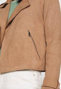 Cartoon - Faux leather jacket - woodsmoke - 5