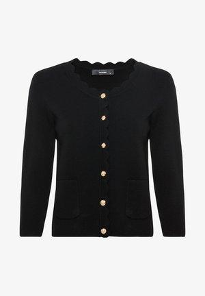 MIT WAPPENKNÖPFEN - Cardigan - schwarz