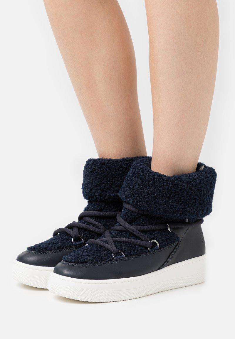 Esprit - BOLOGNA  - Šněrovací kotníkové boty - navy