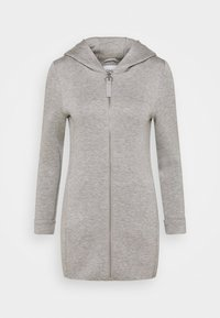 ONLY Petite - ONLLENA HOOD COAT PETIT  - Zip-up hoodie - light grey melange - 4