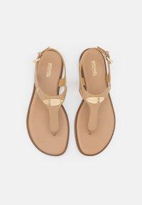 MICHAEL Michael Kors - PLATE THONG - T-bar sandals - camel - 4