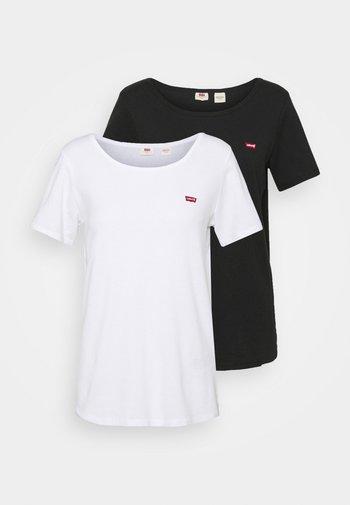 TEE 2 PACK - Print T-shirt - black/white
