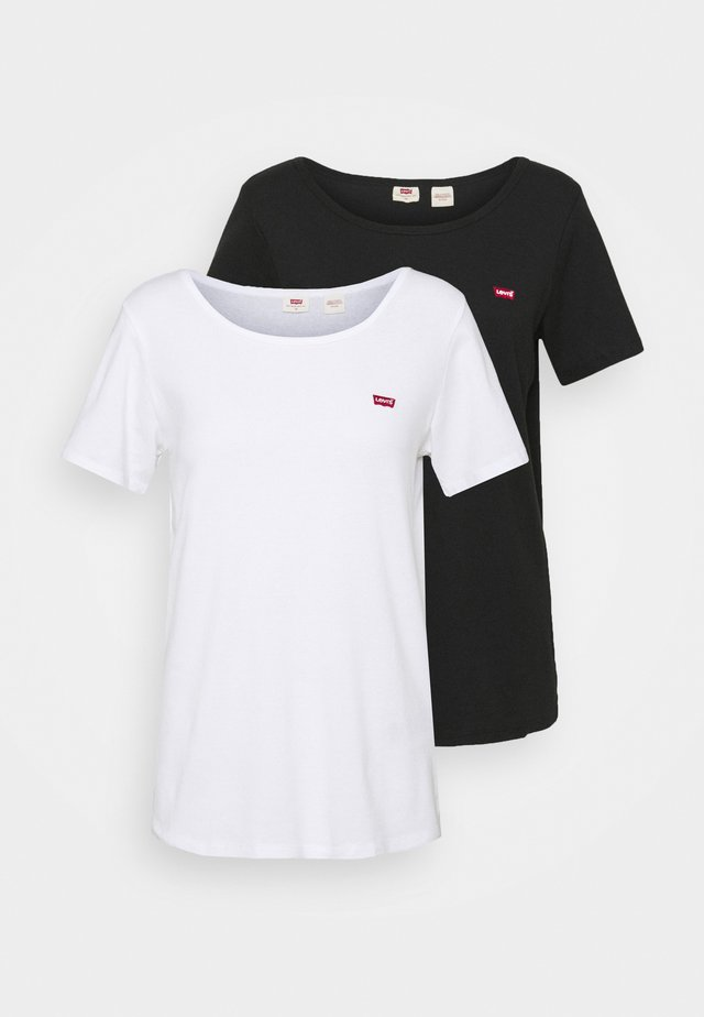 TEE 2 PACK - T-shirt con stampa - black/white