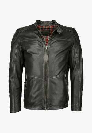 ABSTEPPUNGEN  - Leather jacket - black