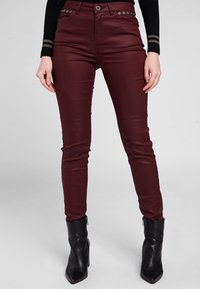 Morgan - HIGH WAISTED TROUSERS - Trousers - dark red - 0