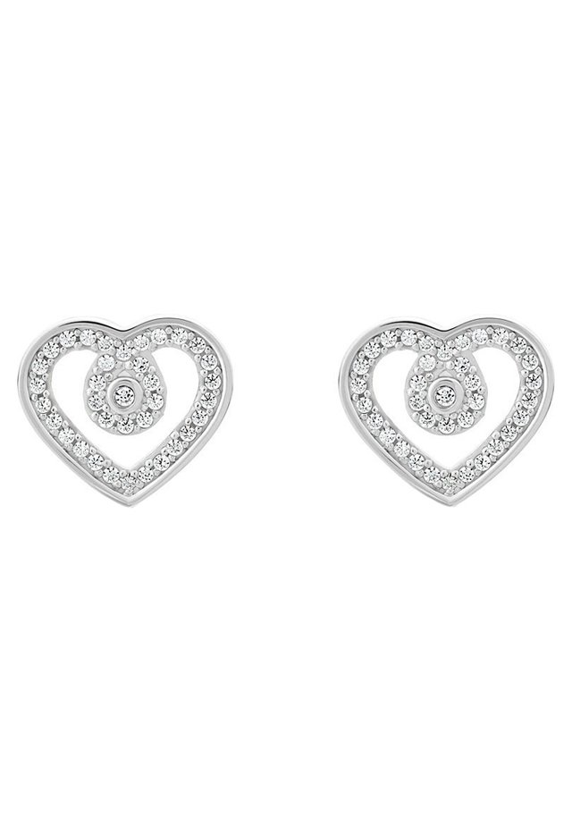 JETTE SILVER DAMEN-OHRSTECKER SILBER 72 ZIRKONIA - Earrings - silber