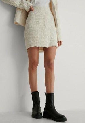 TWEED - A-line skirt - cream