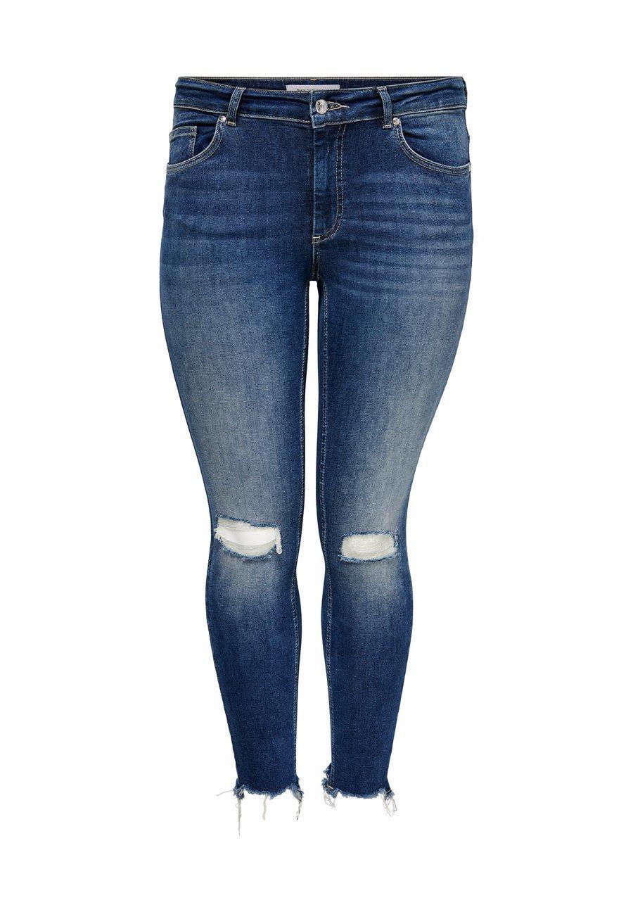 Damer CURVY CARWILLY REG ANKLE DESTROYED - Jeans Skinny Fit