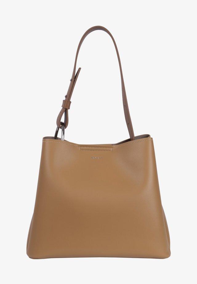 Handbag - camel / mocha