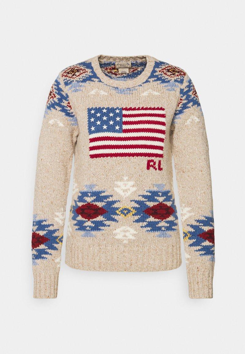 Polo Ralph Lauren - FLAG CLASSIC LONG SLEEVE - Svetr - multi