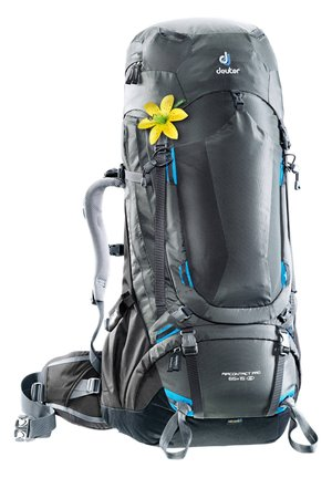 "DEUTER DAMEN TREKKINGRUCKSACK ""AIRCONTACT PRO 65+15 SL"" - Hiking rucksack - grau (231)"