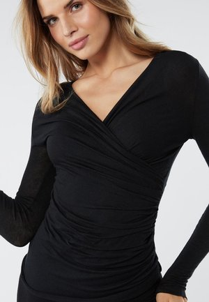 TOP AUS MODAL UND KASCHMIR - Long sleeved top - black