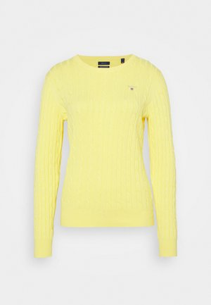 CABLE CREW NECK - Jersey de punto - brimstone yellow