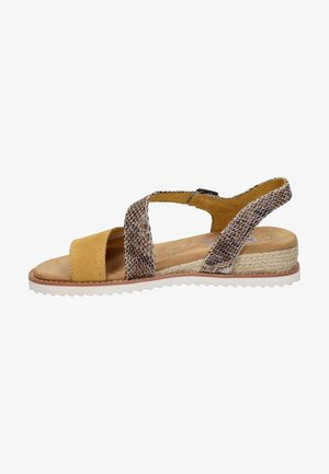Wedge sandals - geel