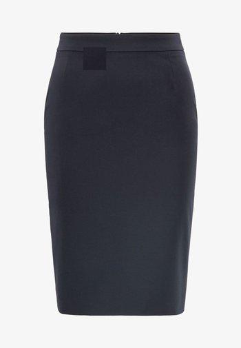 VILEA SLIM FIT - Pencil skirt - dark blue