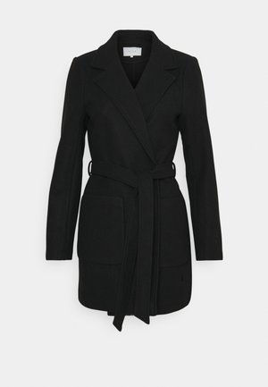 VICATTY BELTED COLLAR COAT - Krótki płaszcz - black