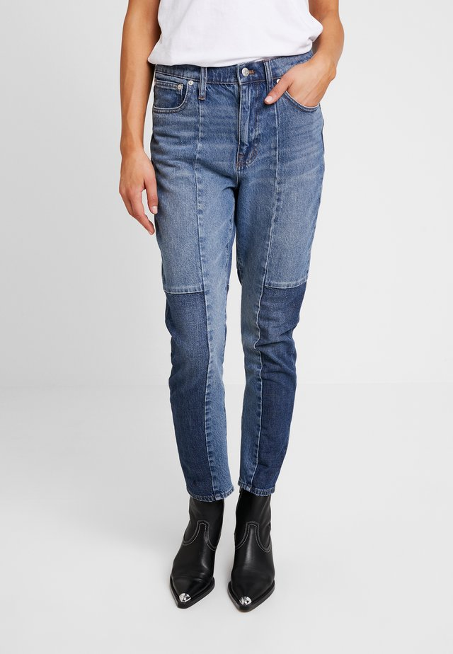 NOVELTY SEAMED HIGH RISE CROP BOYJEAN - Jeansy Slim Fit - jenkins wash