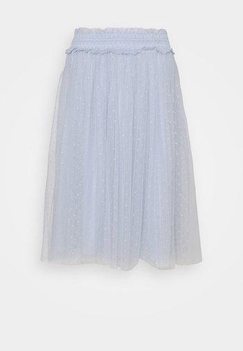 HONEYCOMB SMOCKED MIDI SKIRT EXCLUSIVE ELASTIC WAIST - A-line skirt - bluemist